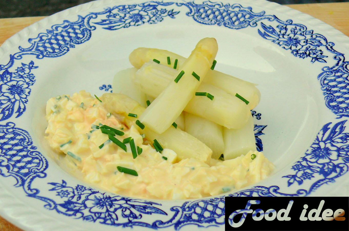 Traditionele asperges zonder ham