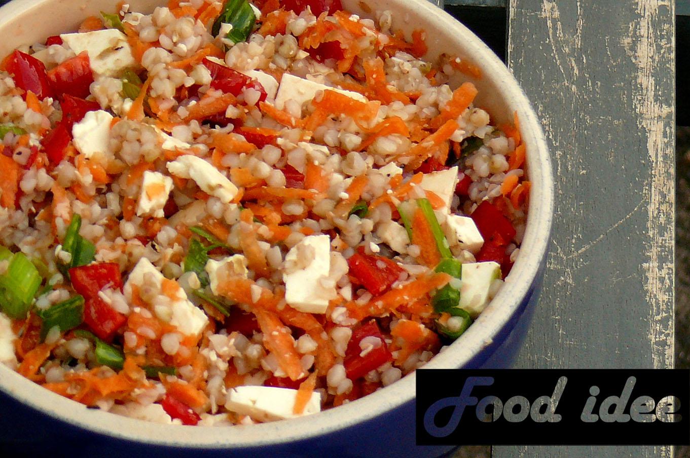 Boekweit salade met wortel en feta