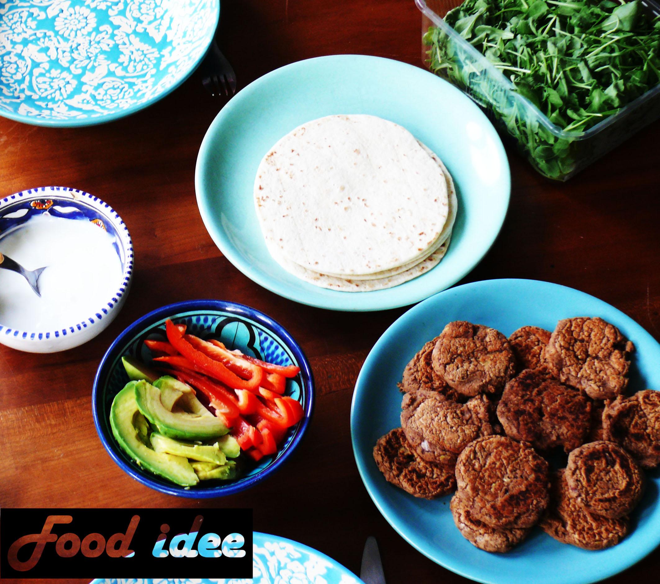 Wraps met zelfgemaakte falafel