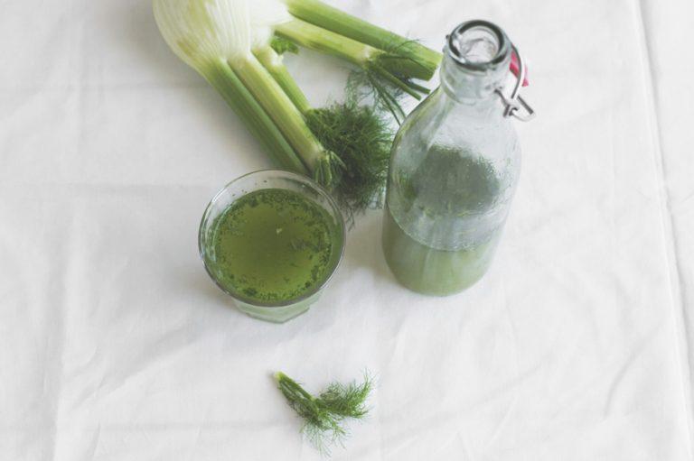 Groene detox smoothie met venkel en appel