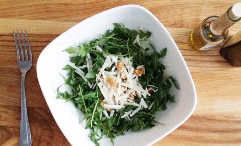 rucola salade met Parmezaanse kaas